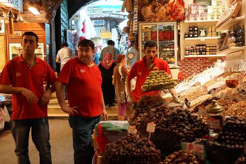 Happy vendors Istanbul Spice Market