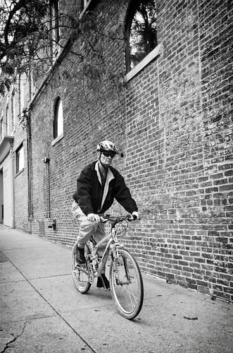 Grim biker bw