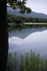 A mirror lake on the five-lake walk on the Shiretoko Peninsula (Hokkaido, Japan)