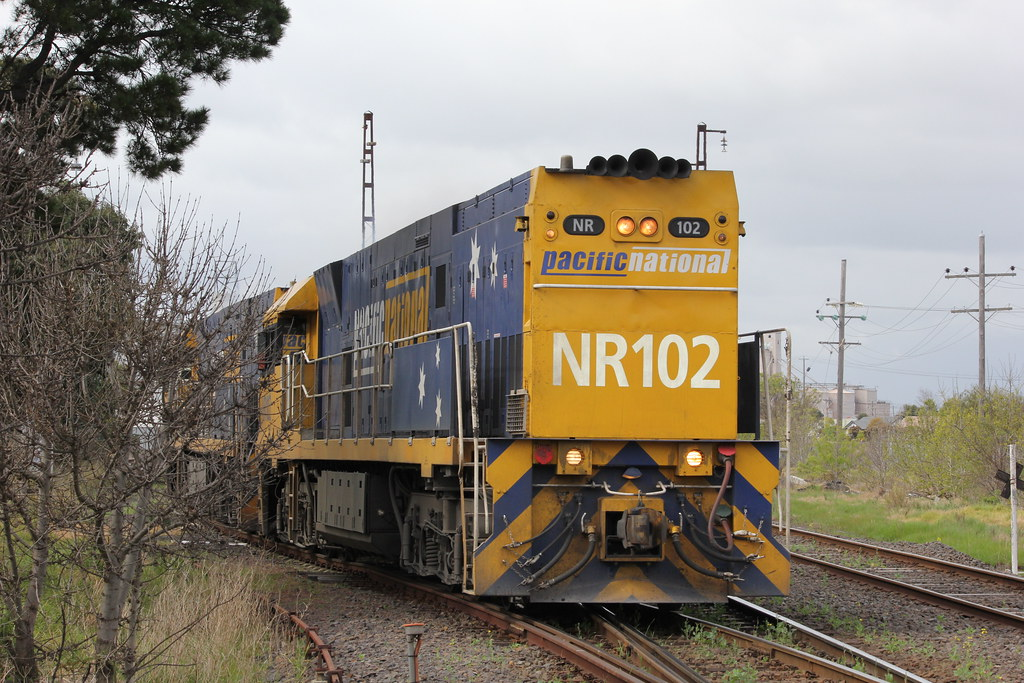 NR102 and NR90 leave the Spotswood maintenance centre bound for Dynon by bukk05