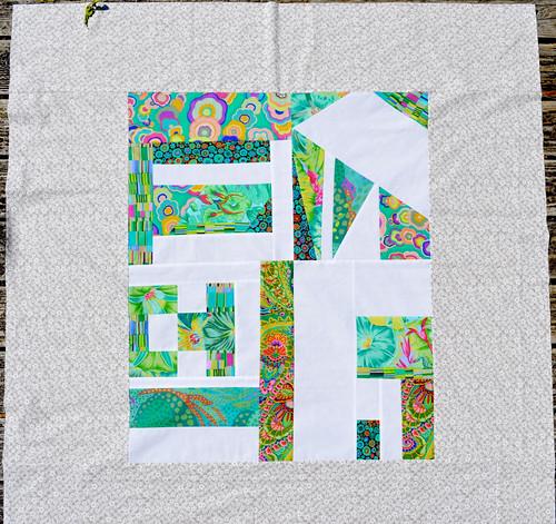 Urban Garden inspired quilt back