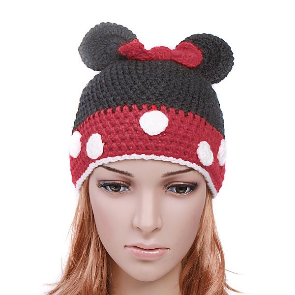 Minnie/Mickey Mouse Knitted Wool Cap Absolutely adorable M? Flickr - Phot...