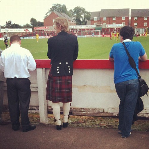 Kilts in the terraces