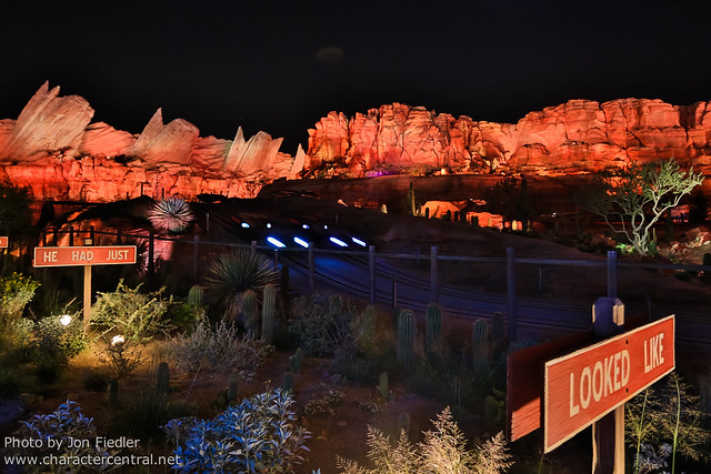 Disneyland July 2012 - Cars Land at Night