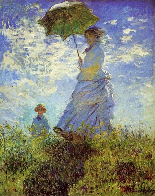 p Claude Monet (1840-1926)_  The Walk, Woman with a Parasol 1875