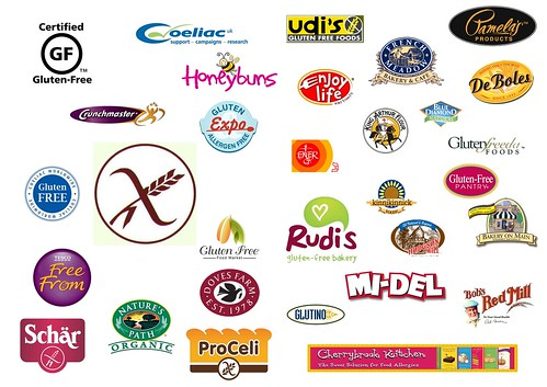 Gluten free brands and logos