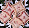 Hand Embroidered Christmas Decorations in Redwork