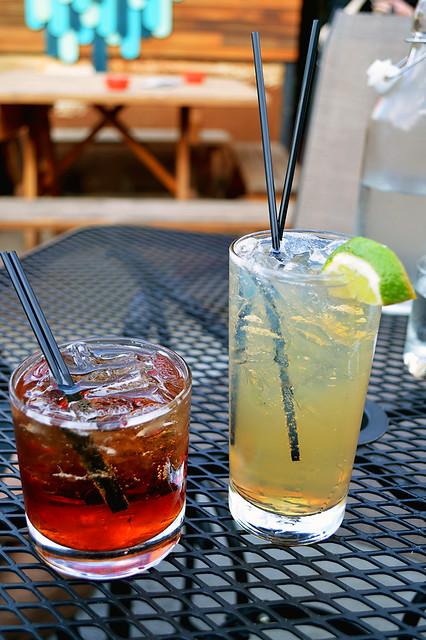 Fig infused whiskey & pineapple infused vodka