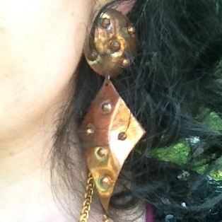 copper spotted dangle earrings from tag sale in Dix Hills