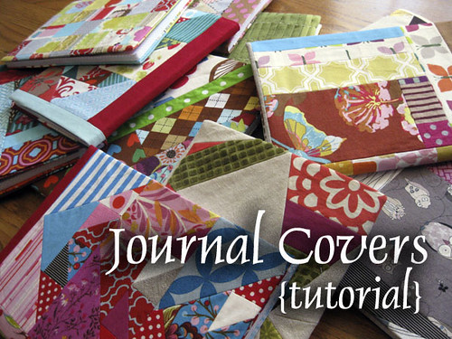 Quilted Book Cover Pattern : Journal cover tutorial — stitched in color