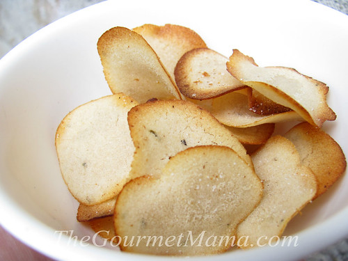 Lemon Garlic Rice Chips