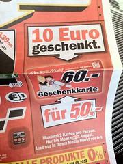 MediaMarkt: 10,- Euro geschenkt