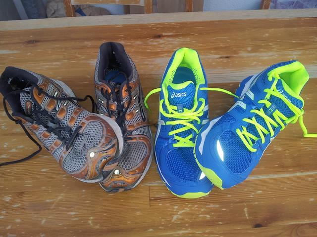 Meine alten und neuen Laufschuhe