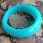 asymmetrical aqua lucite bracelet