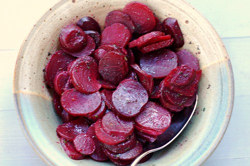 Baked beets with herbs and butter by Eve Fox, Garden of Eating blog, copyright 2012