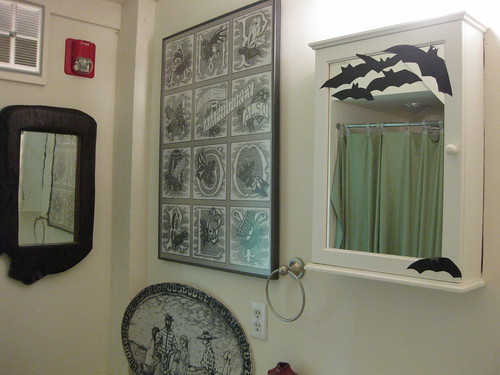 Lovely, batty bathroom in the Gorey House