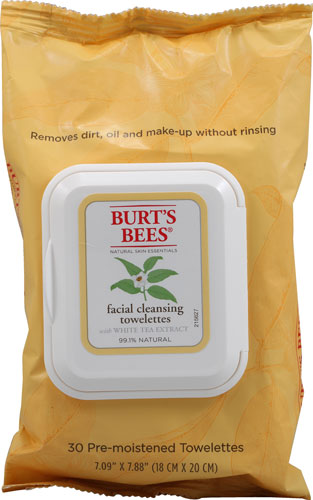 Burts Bees Facial Cleansing Towelettes with White Tea Extract makeup wipes make up