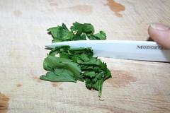 30 - Koriander zerkleinern / Hash coriander