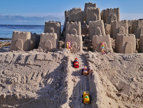 Sandcastle and Toys Porthcressa Beach St Marys Scillies