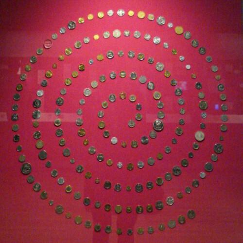 British Museum coin spiral