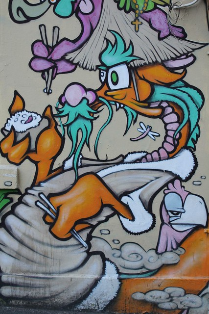 Melbourne Street Art  by www.drewfunk.com - China Express Dragon - 265 Little Lonsdale St