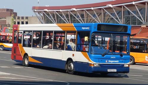 PX53 DJY 'Stagecoach East Midland' No. 34474 Transbus Dart  SLF / Plaxton Pointer  on 'Dennis Basfords railsroadsrunways.blogspot.co.uk'