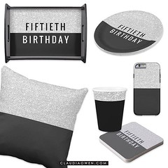 Let us never know what old age is! A very shiny and sparkly collection for @zazzle You can have matching invitations, paper plates, coasters, envelopes and lots more http://www.zazzle.com/claudiaowenshop #birthday #50thbirthday #milestonebirthday #partypl
