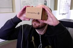 Watching the Google keynote on Cardboard