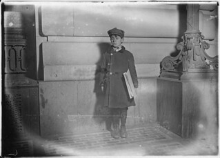 Harry Weber, a Hartford Newsboy. Is 13 years old and only 48 inches high. Been in America 1 1/2 years. Photo at 7 P.M. Hartford, Conn, March 1909