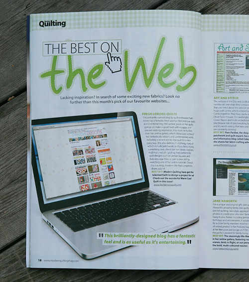 My Blog in Modern Quilting Magazine Issue 2