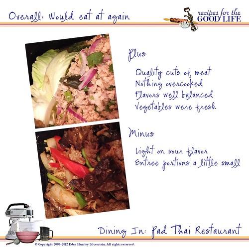 Pad Thai Restaurant: Review