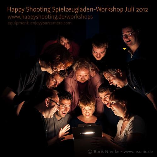 Gruppenfoto Happy Shooting Spielzeugladen-Workshop Juli 2012