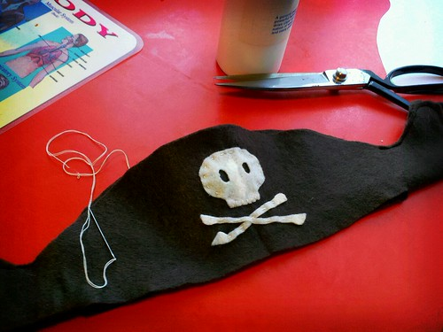 handmade pirate hat