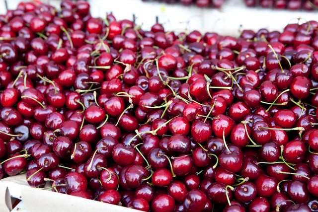 Brook cherries from Twin Girls Farms stand