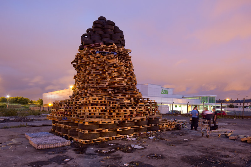 Loyalist Bonfire, ASDA