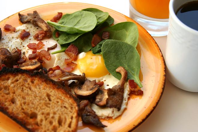 bacon mushroom breakfast skillet
