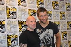 Steven DeKnight & Liam McIntyre from Starz's Spartacus