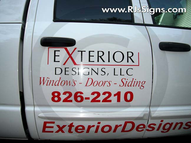 vinyl sign vehicle lettering
