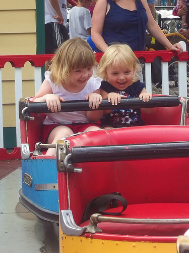 Lucy and Phoebe ride The Whippersnapper