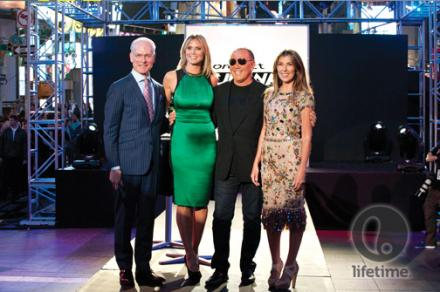 Michael, Tim, Heidi, and Nina on the runway