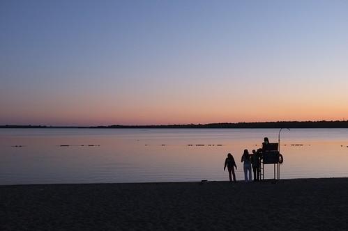 Summer evening at the beach