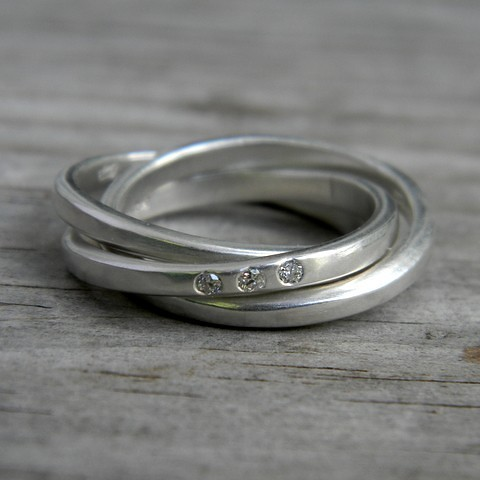 White Gold Russian Wedding Ring