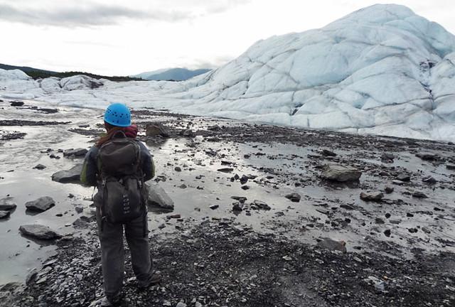 Water rocks glacier