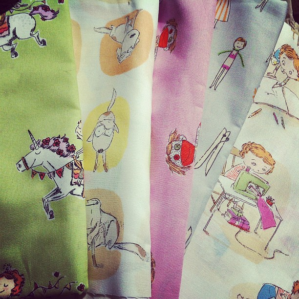 Crafty Chloe fabric by Heather Ross