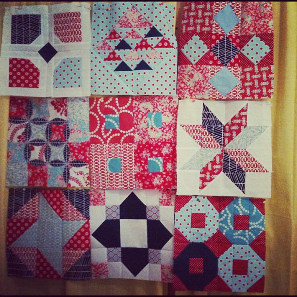 fatquarterly quilt 9-blocks