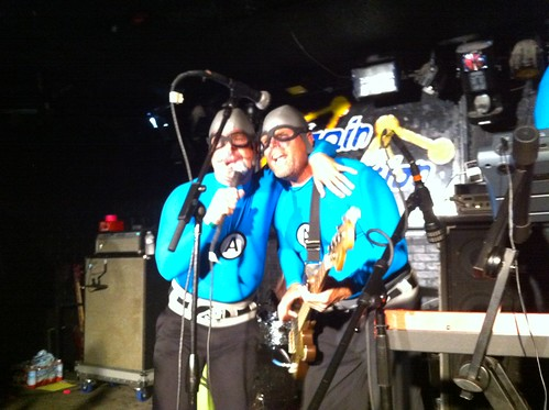 The M.C. Bat Commander and Crash McLarson of the Aquabats!