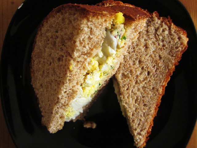 egg salad sandwich, my way
