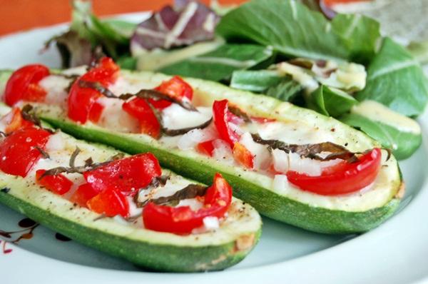 Zucchini Boats With Mozzarella And Olives Recipes — Dishmaps