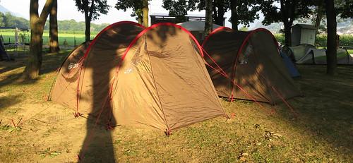 Frühmorgens auf dem Zeltplatz