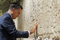 Romney at one of Israel's Walls